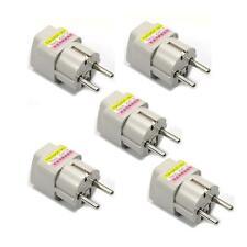 Lot 5 x UK US AU To EU EURO France Germany Travel Adaptor Adapter Converter Plug