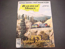 Railroad Model Craftsman Magazine,August 1991,Ft's Across America,Mather Reefers