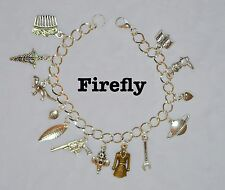 BF001 Firefly Charm Bracelet, Serenity, Tv Show, Mal, Brown Coats