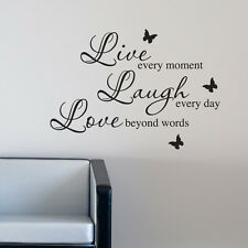 BEDROOM WALL STICKER LIVE LAUGH LOVE VINYL ART DECAL QUOTE w115