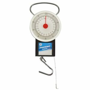 Scales Tape Measure 22kg Weight Luggage Fishing Spring Balance Pocket SIL258
