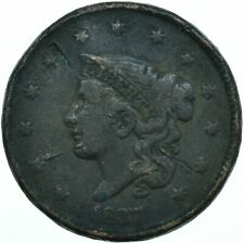 More details for united states / 1827 coronet head large cent / liberty vg  #wt28059