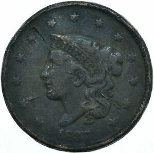UNITED STATES / 1827 CORONET HEAD LARGE CENT / LIBERTY VG  #WT28059