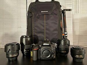 Nikon D750 24.3 MP Full Frame Digital SLR Camera - With 4 Lenses, Tripod & Bag