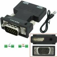 HDMI Female to VGA Male Video Adapter Cable Converter with Audio HD 1080P