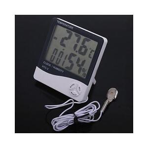Hydroponics Grow Room Digital Thermometer Hygrometer Thermo-Hygrometer 2 Probe