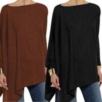 Long Tops Casual Blouse Shirt Ladies Asymmetrical Women Basic Sleeve Tunic Loose