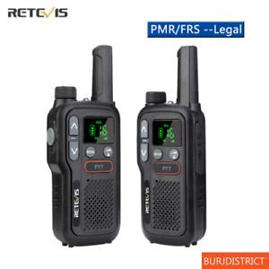 Walkie Talkie Set Transceiver PTT PMR 446 Long Range Two Way Ham Radio VOX USB
