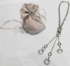 COLLANA/Necklace CATENA/Chain Ciondoli/Pendant STRASS ARGENTO/Silver Bigiotteria
