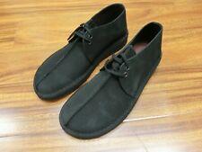 Clarks Desert Trek Boots 38667 Black Suede Leather New