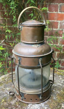 More details for vintage old solid copper riveted brass lantern garden decor breweriana beautiful