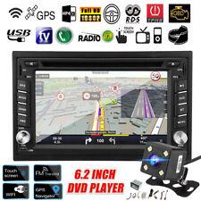 6.2'' Double 2 DIN Car DVD Player Radio Stereo GPS SAT NAV Touchscreen Camera