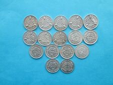 More details for date run, 1928-1944 silver threepence