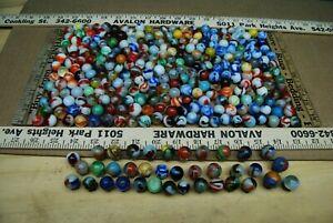 285+pcs 1940-60's Vintage Glass Marbles Akro Agate Peltier Etc! Estate Lot