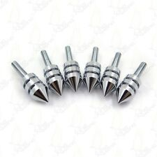 Motorcycle Windscreen Chrome Spiked Bolt Kit Well Nuts Bolts Set Washers Screws