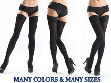 Lace Top 20 Denier Sheer Hold-ups Stockings 19 Various Colours Sizes M-xxxxl Dark Beige 2 M