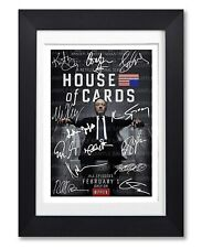 HOUSE OF CARDS CAST SIGNED POSTER SHOW SERIES SEASON PRINT PHOTO AUTOGRAPH GIFT