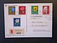 Switzerland 1958 Pro Juventute Series on Registered Postcard - Z5133