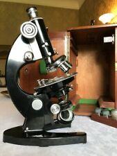Vintage C. Baker Polarising/Petrographic Monocular Microscope circa 1960s, Cased