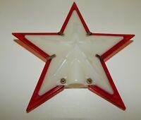 Vintage Hard Plastic Vintage Christmas - Figural Red White Star Tree Topper