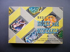 RARE 1956 HARVEY HOUSE BASIC KIT OF ROCKS AND MINERALS WITH GUIDE BOOK NICE!!