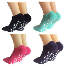 Lantee Non Slip Casual Floor Hospital Socks with Grips Cotton for Women, 4 Pack