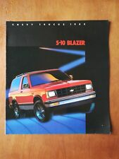 1985 Chevy Trucks S-10 Blazer Sales Brochure - Chevrolet - 19 Pages