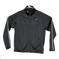 Nike Zip Up Track Jacket Mens Large Black Front Zip Pockets