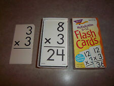 Multiplication Flash Cards 0 - 12 - Self Checking Design with Answers on back