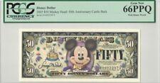 Disney Dollar 2005 $50 Mickey D00022873 PCGS 66 PPQ Gem New