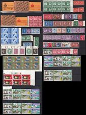 GB Stamp 1950-70 4 pages of mint Booklet, sets, and blocks, MNH, MH mixed