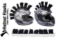 "Helmet Hawks ™ Mohawk Jet Black 2"" Patches Motorcycle Bike BMX Helmet Mohawks"