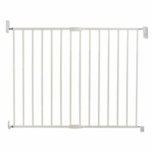 Lindam Baby Infant Safety Stair Wall Push to Shut Extending Metal Gate