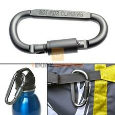 Camping Outdoor Aluminum D-Ring Screw Locking Carabiner Hook Clip Key Chain