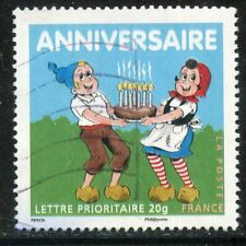 STAMP / TIMBRE FRANCE OBLITERE N° 4081 // ANNIVERSAIRES // SYLVAIN ET SYLVETTE