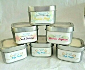 100% PURE NATURAL SOY WAX HIGHLY SCENTED CANDLE IN A SQUARE TIN
