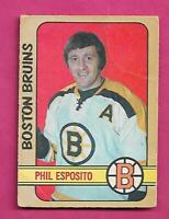 1972-73 OPC # 111 BRUINS PHIL ESPOSITO CREASED CARD (INV# D7750)
