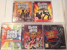 Guitar Hero PS3 Bundle III 3 Legends Rock World Tour Aerosmith Warriors Of Band