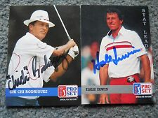 Irwin & Rodriguez Signed 1992 Pro Set Golf Cards