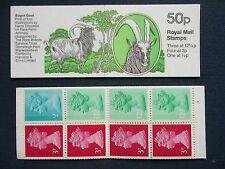 Fb23B Rare Farm Animals Bagot Goat 50P Machin Stamp Booklet Umfb27