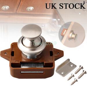 Push Button Catch Lock Cupboard Door Furniture Cabinet Camper Caravan Latch Knob