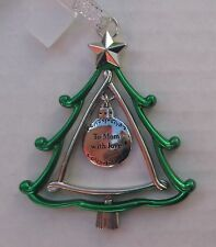 zzx To Mom with Love 3d CHRISTMAS TREE ORNAMENT charm Ganz