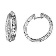 White Gold - Ref-237N4F Lot 7041 3.53 Ctw Diamond & Hoop Earring 14K