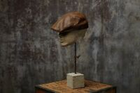 Alex Cabbie Winter Tweed Wool Leather Flat Cap
