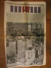 50th ANNIVERSARY D Day Newspaper 1994 MILITARY commemorative WWII