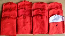 Satin/Silk-like pouches - snap close - embroidered - jewelry-gifts - Set of 12