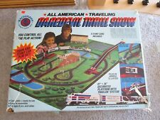 Vintage HO Scale Bachmann Great American Thrill Show train & Daredevil Track SET