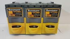LOT OF (3) GUARANTEED GOOD USED! BUSSMANN 3-POLE 32A 660V FUSE HOLDERS OPM-1038