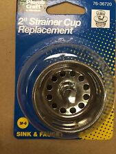 "Strainer Cup Replacement, 2"" to 2-1/2"", Sink & Faucet, With Rubber Stoper"