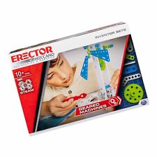 Meccano Erector, Set 3, Geared Machines S.T.E.A.M. Building Kit with Moving P.